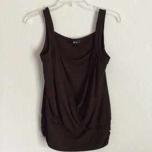 BCX Chocolate Brown Sleeveless Dressy Casual Top M